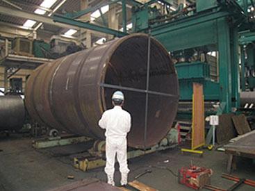 ドラム用シェル2,600ΦL=4,610 周溶接加工