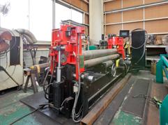 大型鋼材・鋼板の曲げ加工