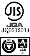 FS95101/ISO9001 JIS・ISO9001取得